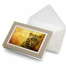 Greetings Card (Biege) - Leopard Big Cat Wild Art #8241