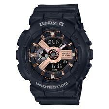 -NEW- Casio Baby-G Black & Rose Gold Watch BA110RG-1A