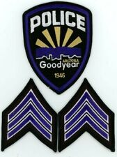 GOODYEAR ARIZONA AZ POLICE WITH 2 SETS OF SGT CHEVRONS COLORFUL PATCH SHERIFF