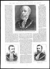 1885 PORTRAITS Mayor of London JOHN STAPLES - Sheriff Evans & Clarke (129)