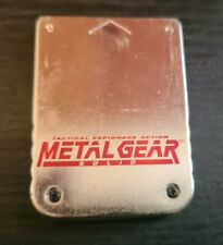 Metal Gear Solid Memory Card PS1 (Playstation 1) SPECIAL EDITION. GC.Free P+P.