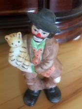 Emmet Kelly W/ A Cat Figurine Vgc