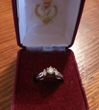 Diamond Engagement ring preowned size 6 1/2. Total carat weight .55