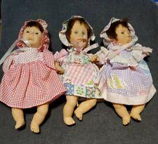 "3 Gi-Go Palm Pals Bean Bag Kids 8"" Dolls Different Expressions"
