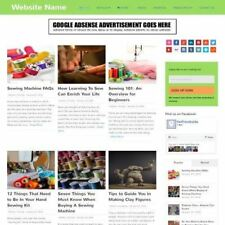ARTS AND CRAFTS STORE - Professionally Designed Affiliate Website For Sale