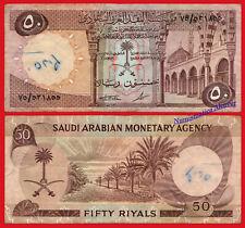 SAUDI ARABIA 50 Riyals riales 1968 Pick 14b BC- /  F Graffiti