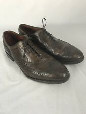Allen Edmonds McAllister Wing Tip Brown Shoes Men's Size 9 EEE