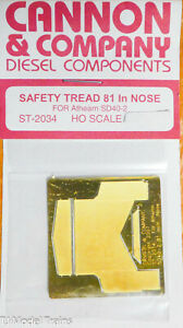 Cannon & Company HO #2034 Safety Tread Kit Nose Only (Photo-Etched Brass) -- For