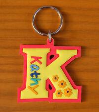Rubber Name Key Fobs Key Rings KATHY - K Shape