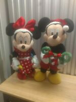 26 Inch Walt Disney Mickey And Minnie Mouse Standing Plush Christmas Decorations