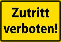 Zutritt verboten ! Blechschild Schild gewölbt Metal Tin Sign 20 x 30 cm F0284
