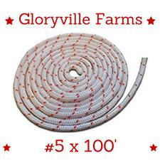 #5 - 5/32 Dia. (3.9mm) X 100' Premium Smooth Braid Nylon Recoil Rope (11740)
