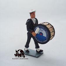 Figurine Collection CBG Mignot Grosse caisse Marin Bagad Lann Bihoué Tenue Hiver