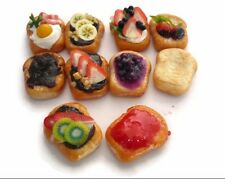 10 Sliced of Bread with Mix Top  Dollhouse Miniatures Food Bakery Breakfast