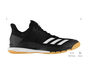 Adidas Crazyflight Bounce Unisex Indoor Court Shoes- Black -Sports Trainers -NEW