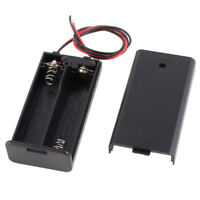 2 x AA 3V Battery Holder Case Box Slot Wired ON/OFF Switch w Cover FP