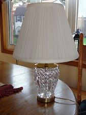 WATERFORD Irish Crystal Table Lamp with Shade MINT CONDITION!