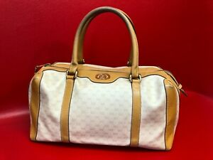 GUCCI Boston Monogram GG Signature Doctor Satchel Handbag Medium Bag Authentic