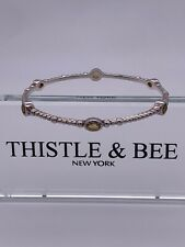Thistle And Bee Sparkler Bangle With Citrine