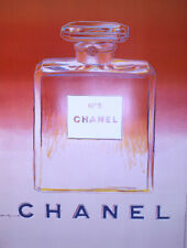 Original Vintage Chanel Poster Pink by Andy Warhol 1997 Perfume Fashion Pop Art