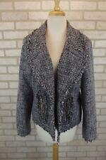 NEW Michael Kors Womens Blazer Jacket 12 Coat NWT Dress Suit Blue White Tweed