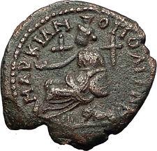 SEPTIMIUS SEVERUS 193AD Marcianopolis Cybele Lion Ancient Roman Coin i59328