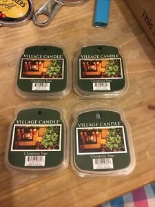 Village Candle Wax Melts Christmas Tree Pack Of 4