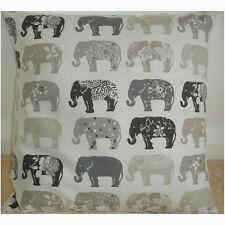 "NEW 24"" Elephants Cushion Cover Grey Beige Charcoal Cream Floral Spots Elephant"