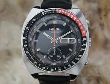 Seiko Mens Japan Vintage 1970 Stainless St 41mm Chronograph Automatic Watch MA11