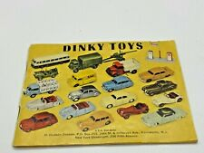1950's Dinky Toys Early Catalog Brochure Booklet, Original Copy Nice Rare!