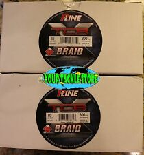 P-Line XTCB Teflon Coated Green Braid 65 or 80 lb 300 Yd Fishing Line PXB300