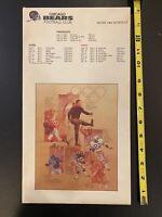 Rare 1984 Chicago Bears Full Ticket Sheet & Envelope Walter Payton Olympics