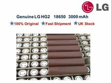 LG HG2 3000mAh 20A Flat Top 18650 INR Lithium-Ion Battery for Vaping - UK Stock