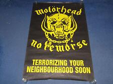 Motorhead - No Remorse - 1984 UK Promo Subway Poster (Ozzy Osbourne Iron Maiden)
