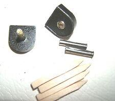"2x 9/16"" 14mm 120pin BLACK METAL STILETTO HIGH HEEL SHOE TOPS TIPS TUBE KIT PAIR"