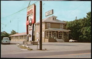 YORK PA Flamingo Motel Vtg VW Bug Pennsylvania Postcard