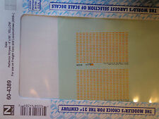 "Microscale Decal N  #60-4389 Reflector Stripes Scale 4"" X 18"". For Locomotives &"