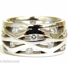 18KT .75CT DIAMOND 3D CHANNEL WAVE WIDE BAND 10.50MM +
