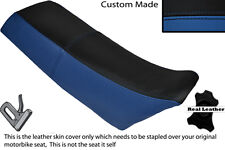 BLACK & ROYAL BLUE CUSTOM FITS YAMAHA YZ 250 EVO 86-87 DUAL LEATHER SEAT COVER