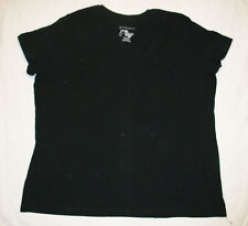 JMS Plus V NECK Cotton Tee 2X Black NEW