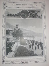 Printed Photo Round and about Monte Carlo 1908