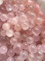 20-25pcs Rose Quartz Stone Sphere ~ For Crystal Healing , Reiki,Chakra grid ball