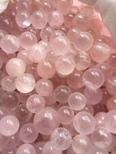 20-25pcs Rose Quartz Stone Sphere ~ For Crystal Healing , Reiki,Chakra grid ball