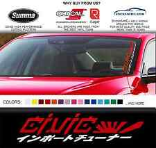 "20"" JDM kanji Honda civic car sticker windshield windscreen banner Mugen decal"