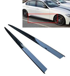 BMW F30 F31 M performance gloss black side skirts skirt add on extensions blades