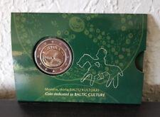 "Lithuania 2 Euro BU coin 2016 ""Baltic Culture"" in coincard New"