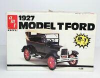 AMT Ertl 1927 Model T Ford 2 Options 1:25 Scale Plastic Model Kit 6582