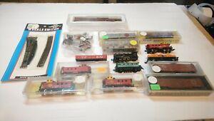 AHM/Atlas/Bachmann etc N Scale Train Lot Rolling Stock/Running 0-6-0 Locomotive