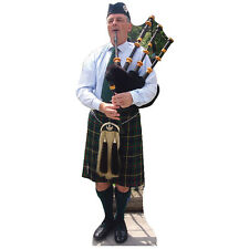 BAGPIPES PIPER Lifesize CARDBOARD CUTOUT Standup Standee Poster Scottish F/S