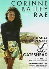 Corinne Bailey Rae A5 Colour November 2016 UK Sage Gateshead Concert Flyer